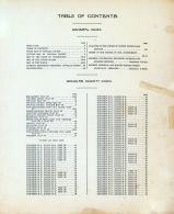 Table of Contents, Douglas County 1915
